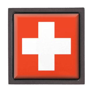 Bandera de Suiza Caja De Joyas De Calidad