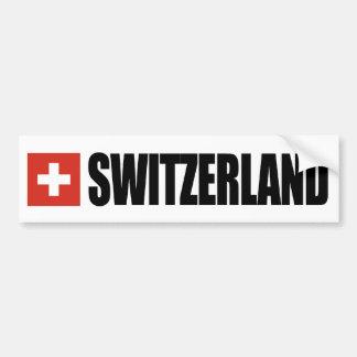 Bandera de Suiza Etiqueta De Parachoque