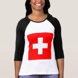 Bandera de Suiza Camiseta