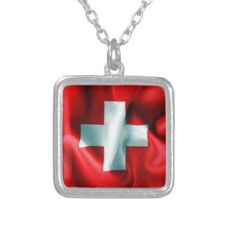 Bandera de Suiza Colgante Cuadrado
