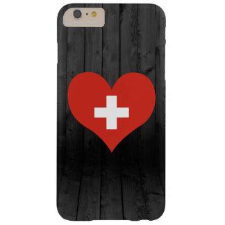 Bandera de Suiza coloreada Funda Para iPhone 6 Plus Barely There