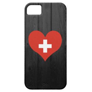 Bandera de Suiza coloreada iPhone 5 Carcasas
