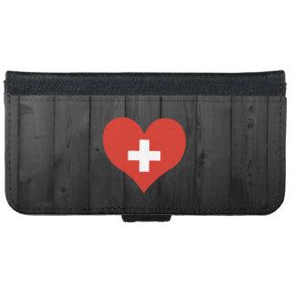 Bandera de Suiza coloreada Carcasa De iPhone 6