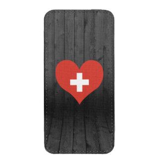 Bandera de Suiza coloreada Bolsillo Para iPhone