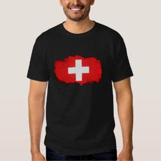 Bandera de Suiza del Grunge Camisas