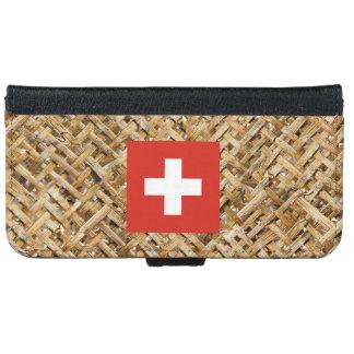 Bandera de Suiza en la materia textil temática Carcasa De iPhone 6