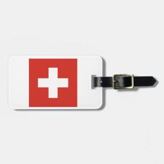 Bandera de Suiza Etiqueta De Equipaje