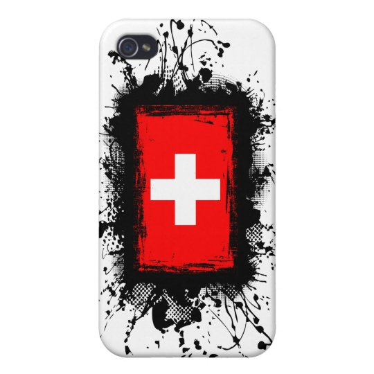 Bandera de Suiza iPhone 4/4S Carcasas