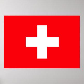 Bandera de Suiza Poster