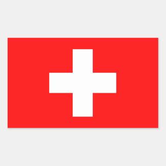 Bandera de Suiza Rectangular Pegatinas