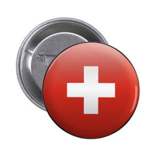 Bandera de Suiza Pin Redondo 5 Cm