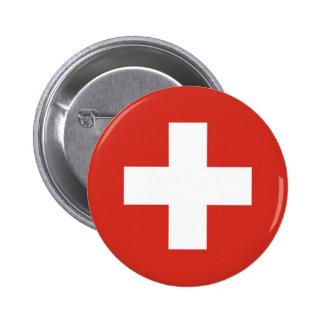 Bandera de Suiza Pin Redondo De 2 Pulgadas