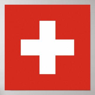 Bandera de Suiza Póster