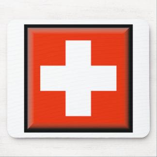 Bandera de Suiza Alfombrilla De Ratón