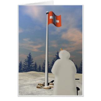 Bandera de Suiza Tarjeta