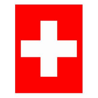 Bandera de Suiza Postales