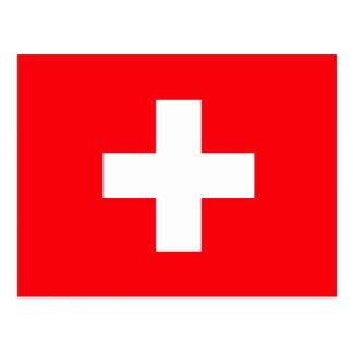 Bandera de Suiza Tarjeta Postal