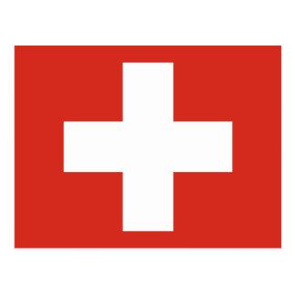 Bandera de Suiza Tarjetas Postales