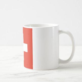 Bandera de Suiza Taza Básica Blanca