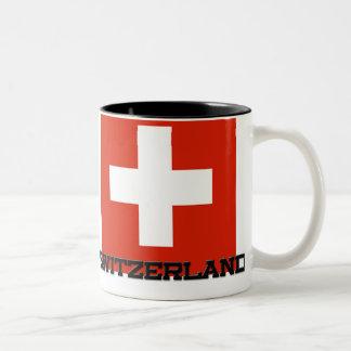 Bandera de Suiza Taza Dos Tonos