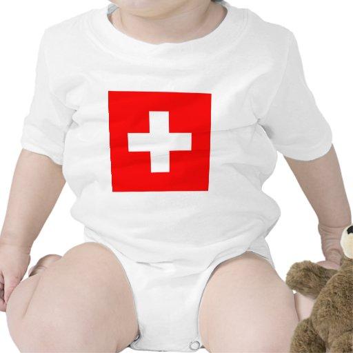 Bandera de Suiza Trajes De Bebé