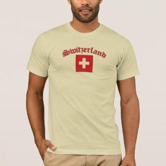 Bandera de Suiza (w/inscription) Playera