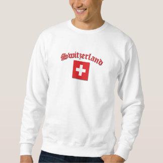 Bandera de Suiza (w/inscription) Pulóvers Sudaderas