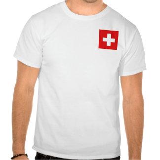 Bandera de Suiza y camiseta del mapa
