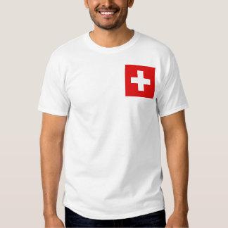 Bandera de Suiza y camiseta del mapa Remeras