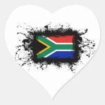 Bandera de Suráfrica Calcomania Corazon