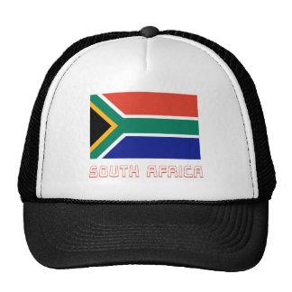 Bandera de Suráfrica con nombre Gorros Bordados