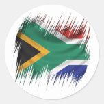 Bandera de Suráfrica de las trituradoras Etiqueta Redonda