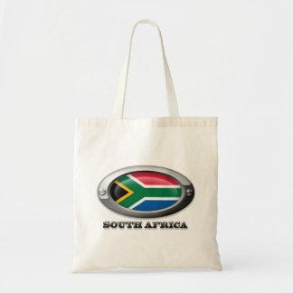Bandera de Suráfrica en el marco de acero Bolsa Tela Barata
