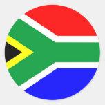 Bandera de Suráfrica Etiqueta Redonda