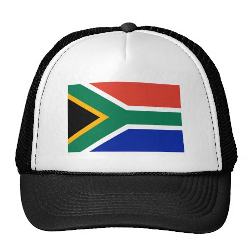 Bandera de Suráfrica la plantilla de los regalos d Gorras