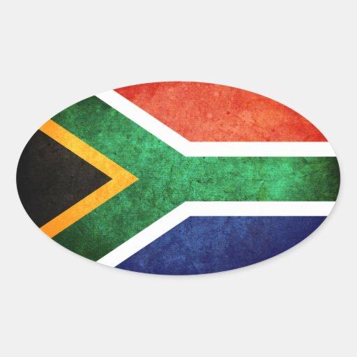 Bandera de Suráfrica Calcomania De Óval Personalizadas