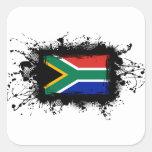 Bandera de Suráfrica Calcomania Cuadradas Personalizadas