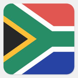 Bandera de Suráfrica Pegatina Cuadrada