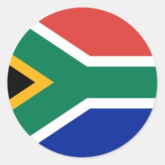 Bandera de Suráfrica Pegatina Redonda