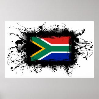 Bandera de Suráfrica Poster