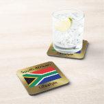 Bandera de Suráfrica+Práctico de costa del texto Posavaso