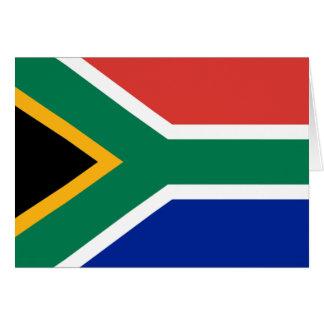 Bandera de Suráfrica Tarjeta De Felicitación
