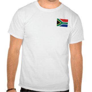 Bandera de Suráfrica y camiseta del mapa