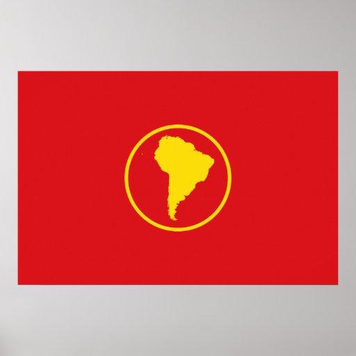 Bandera de Suramérica (oferta) Póster