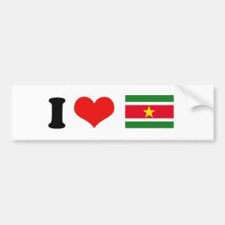 Bandera de Suriname Etiqueta De Parachoque