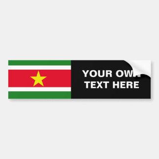 Bandera de Suriname Pegatina Para Auto