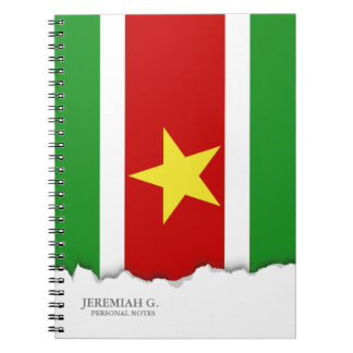 Bandera de Suriname Libreta Espiral