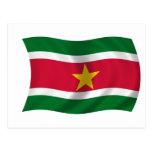 Bandera de Suriname Tarjeta Postal