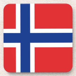 Bandera de Svalbard (Noruega) Posavasos De Bebida