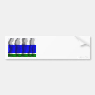 Bandera de Sverdlovsk Oblast Pegatina De Parachoque